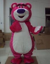 New loverly purple pink bear Mascot Costume Fancy Dress Adult Suit Size R126
