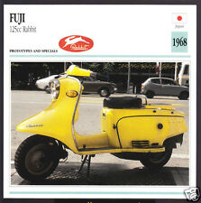1968 Fuji 125cc Rabbit (123cc) Scooter Moped Japan Motorcycle Photo Spec Card