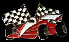 Car Race Racing Racetrack Vehicles Checkered Flag Belt Buckle Boucle de Ceinture