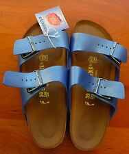 New! Birkenstock Arizona Sandals 39N 8 Birko-flor Ice Pearl Opal (Blue) 252743