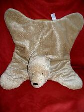 Baby Gund Classic Tan Plush Pooh Bear w Satin Paws Security Blanket Mat