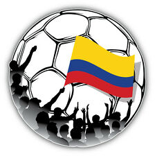Colombia Soccer Ball Fans Car Bumper Sticker Decal 5'' x 5''