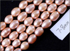 """7-8mm Freshwater Light pink Pearl loose Beads 14""""inch"""