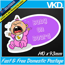 Baby On Board Sticker/ Decal - Girl Vinyl Sign Cute Cool Toddler Newborn Blonde