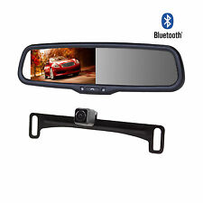 "4.3"" Car Kit Rearview Bluetooth Mirror Monitor+Parking Camera For Car Vehicle"