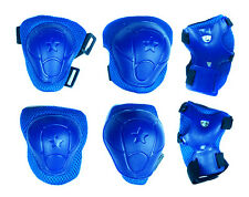 CHILDREN KIDS BLUE WRIST ELBOW KNEE PAD PROTECTORS SKATING SPORTS GEAR CYCLING
