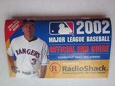 2002 MLB Official Fan Guide with A-Rod Alex Rodriquez Rangers on Cover Nr Mint