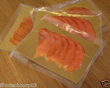 "6"" x 8"" Fish Smoked Salmon Gold / Silver Food Vacuum Boards 50 pack"