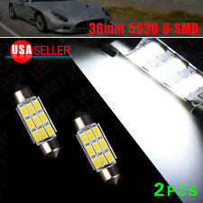 "2X Super White 36MM 1.50"" Samsung 5630 9SMD LED Map License Light C5W 6411 6418"