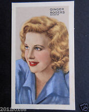 figurines actors figurine attori cigarette cards 14 ginger rogers actress cinema