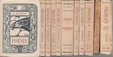 IL LAURO COLLANA POETICA TUTTO IL PUBBLICATO 1924-1938 LIBRERIA GREGORIANA