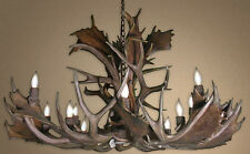 REAL ANTLER FALLOW & MULE DEER SINGLE TIER CHANDELIER FMSTL