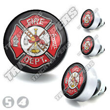 4 SilverBillet Fire Department License Bolts Motorcycle Custom Tag Fastener
