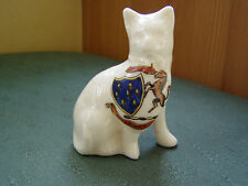 SEVENOAKS KENT CREST - CAT WITH BOW TIE - W & R LONDON CRESTED CHINA