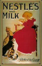 Nestle Milk Katzen Blechschild Schild Blech Metall Metal Tin Sign 20 x 30 cm