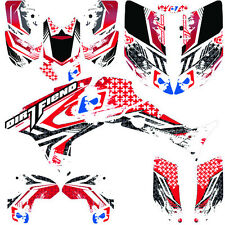 DFR NINETYSIX GRAPHIC KIT RED FULL WRAP 04-05 HONDA TRX450R TRX 450