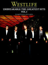 Westlife Unbreakable Learn to Play Pop PIANO Guitar PVG Music Book Vol 1