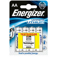 4 x Batterien LR6 Mignon AA Energizer Ultimate Lithium Blister-Pack