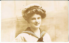 ARISTOPHOT POSTCARD PATRIOTIC YOUNG WOMAN WW1 HMS MARS RP