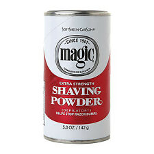 Magic Red Depilatory Shaving Powder Extra Strength Razorless Shaving Stop BUMPS