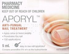 GENUINE APORYL NAIL LACQUER ANTI-FUNGAL NAIL TREATMENT AMOROLFINE 5%5ML= LOCERYL