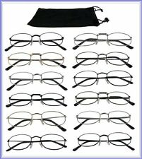 Reading Glasses [+2.00] 12 Metal Frame Wholesale Unisex Readers 12 Pair +2.00