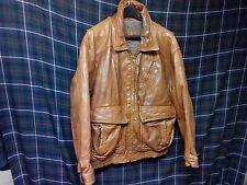 Vintage leather Bomber jacket sz Large