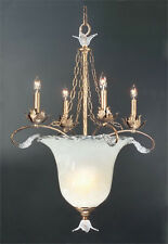 Stylicon Antique Gold And Andel Winds Glass Chandelier/Pendant