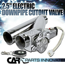 "2.5"" 63MM ELECTRIC EXHAUST CATBACK DOWNPIPE CUTOUT E-CUT OUT VALVE SYSTEM+REMOTE"