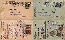 """REGNO-Due cartoline diverse """"TASSA DI BOLLO LUSSO E SCAMBIO""""  12.6/28.9 1925"""