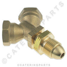 POL TEE SPLITTER CONNECTOR Y PIECE FOR LPG LP PROPANE CYLINDER DUAL CONNECTION