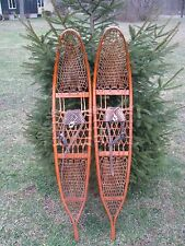 "LG VTG 1943 WW2 US MILITARY SNOWCRAFT INC; NORWAY, ME #17654 SNOWSHOES 10"" x 58"""
