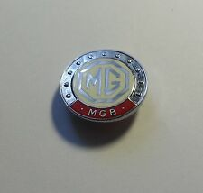 MGB ENAMEL LAPEL PIN BADGE IN RED AND CREAM