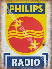 Philips Radio, 146 Electronics Retro Vintage Advertising, Large Metal/Tin Sign