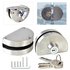 Glass Door Lock Durable 304 Stainless Steel Double Bolts Swing Push Sliding 12mm