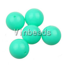 10pcs 20mm Turquoise Blue Acrylic Gum Ball Beads for Pendant Bracelet Necklace