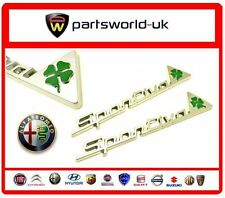 Pair Of Genuine Alfa Romeo Cloverleaf Sportiva Wing Badges - Alfa Giulietta