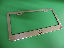 """(1pc)"""" MERCEDES-BENZ LOGO """" Stainless Steel license plate frame"""