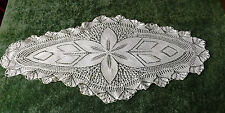 """VINTAGE KNITTED TABLE RUNNER  38"""" BY 17"""" STUNNING"""
