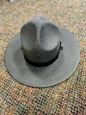 Stratton Hard Straw Campaign Hats Air Force Drill Sgt.County Pa state Police Hat