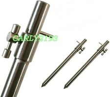 2 New Solid Stainless Steel Bank Sticks Carp fishing Tackle