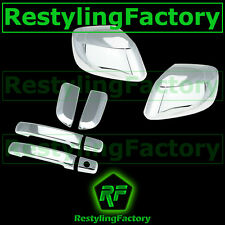 Chrome Mirror+4 Door Handle W/O PSG Keyhole Cover for 05-12 Nissan PATHFINDER