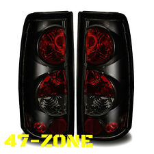 For Chevy Silverado Gmc Sierra Black Housing Smoke Lens Altezza Tail Light Lamp