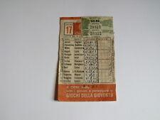 Schedina Totocalcio Concorso n°17 del 16-12-1979 - Come Foto [AF1]