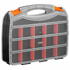 "VonHaus 15"" Two Sided Plastic DIY Tool Nut Bolt Screw Storage Box Organiser Case"