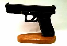 Glock 17/19/26 and Ruger SR9 Pistol Display Stand, Wood Gun Rack for 9MM