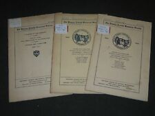 1926-1929 THE PASSIAC COUNTY HISTORICAL SOCIETY PERIODICAL LOT OF 3 - II 6162