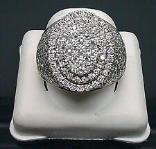 New 10K Yellow Gold With 3.00CT Round Diamonds, Oval Design, Men's Pinky Ring
