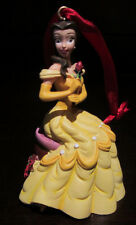 RARE Disney LE Princess Belle Beauty and the Beast Christmas Ornament Figure