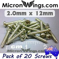 20 x Screws Self Tapping 2.0mm x 12mm Pan Head (304 Stainless Steel)